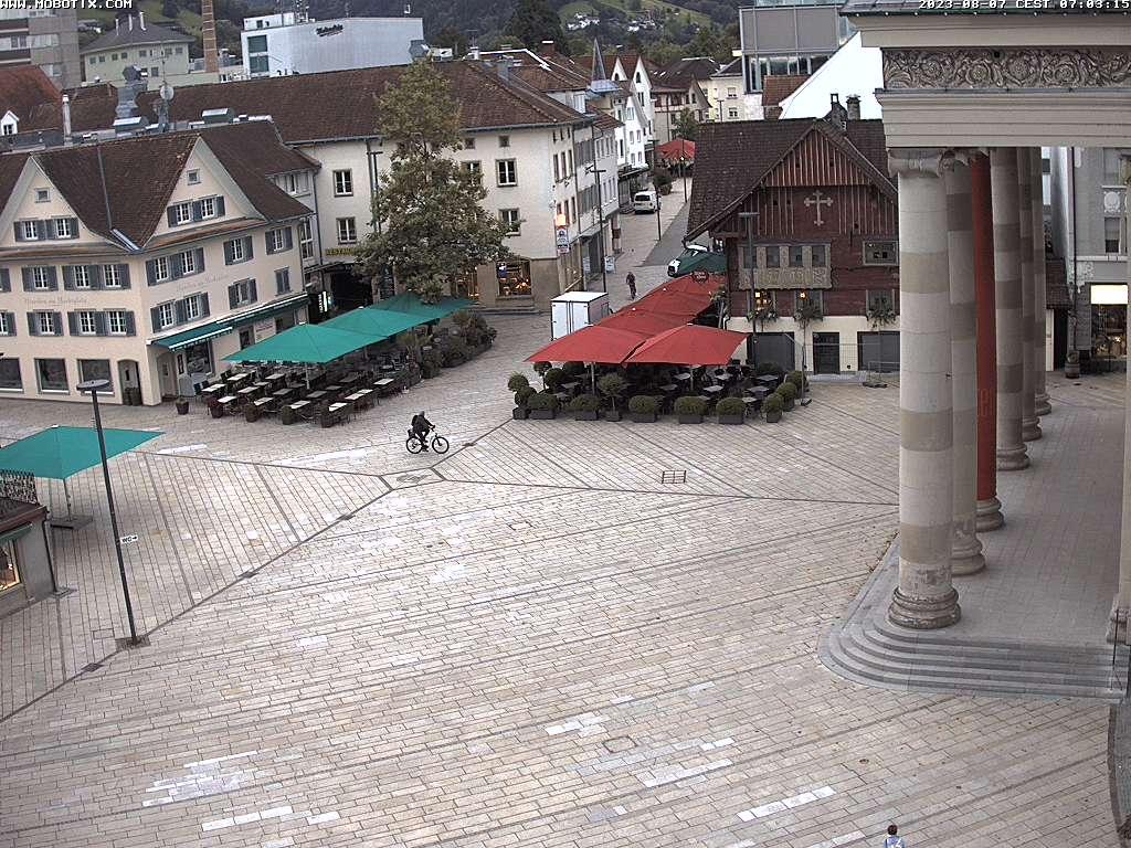 Marktplatz (Sicht  von Volksbank)